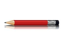 红色蜡笔 库存图片