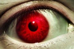 红色血液眼睛 免版税库存照片