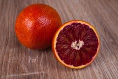 红色血液西西里人橙色整个和半 免版税库存图片