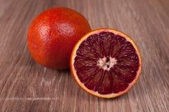 红色血液西西里人橙色整个和半 库存照片