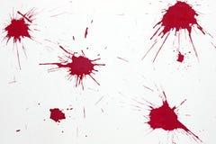 红色血液飞溅 图库摄影