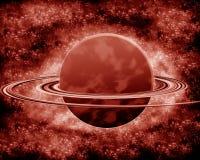 红色行星-幻想空间 免版税库存图片