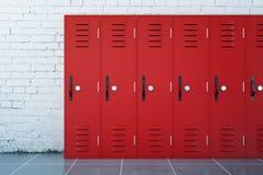 红色衣物柜 向量例证
