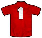 红色衬衣一 库存图片