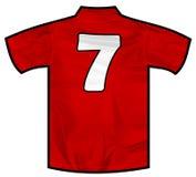 红色衬衣七 库存图片