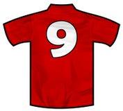 红色衬衣九 库存图片
