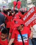 红色衬衣抗议者 免版税库存图片