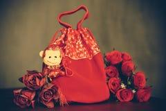 红色袋子 免版税库存照片