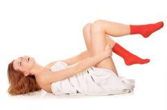 红色袜子 库存照片