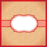 红色被加点的装饰框架 免版税图库摄影