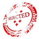 红色被拒绝的印花税 库存照片