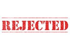 红色被拒绝的钢板蜡纸 皇族释放例证