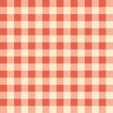 红色被检查的桌布 免版税库存照片