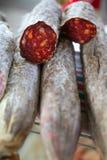 红色被治疗的市场地中海的意大利辣&# 库存照片