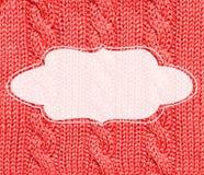 红色被编织的框架背景 免版税图库摄影