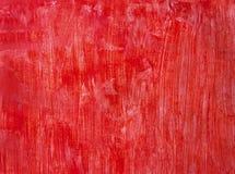 红色被绘的背景 图库摄影