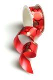 红色装饰丝带 免版税库存照片