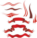 红色装饰的要素 免版税库存图片