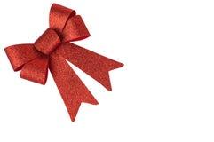 红色装饰(弓) 免版税库存照片