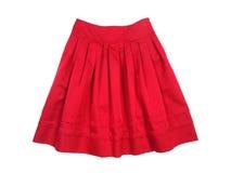 红色裙子妇女 免版税库存图片