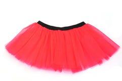 红色裙子芭蕾舞短裙 库存照片