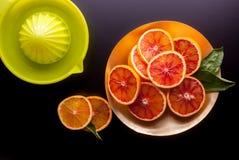 红色西西里人的桔子和剥削者 库存图片