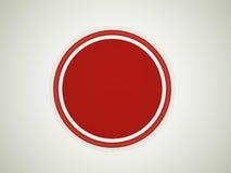 红色警告按钮 免版税库存照片