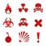 红色警告象 库存图片