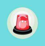 红色警报平的设计传染媒介 免版税库存图片
