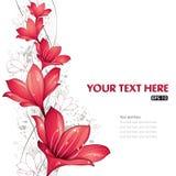 红色设计的百合 免版税图库摄影