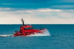 红色试验船 免版税图库摄影