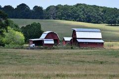 红色谷仓,乔治亚,美国 库存照片