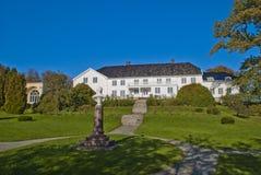 红色豪宅(在挪威rød herregård) 免版税库存图片