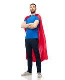 红色超级英雄海角的人 库存照片