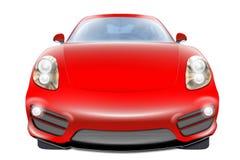 红色跑车 免版税图库摄影