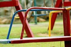 红色轮子公园 库存照片
