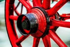 红色轮子 库存图片