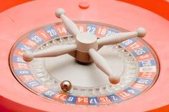红色轮盘赌 库存图片