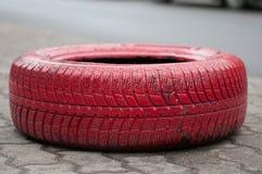 红色轮胎 图库摄影