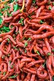 红色辣椒粉。 图库摄影