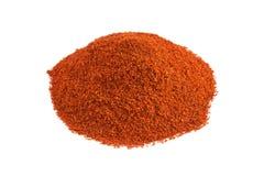 红色辣椒粉粉末 库存图片