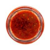 红色辣椒酱顶视图 图库摄影