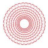 红色边界圈子装饰的重点 免版税库存照片