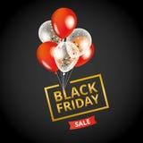 红色迅速增加黑星期五销售 库存图片