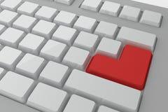 红色进入在关键董事会的按钮 免版税库存照片