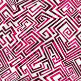 红色迷宫无缝的样式 免版税图库摄影