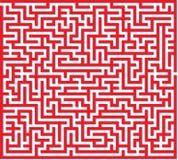 红色迷宫 免版税库存照片