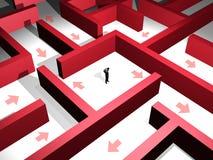 红色迷宫 库存图片