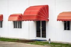红色遮篷 图库摄影