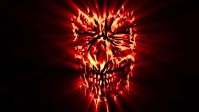 红色邪恶的破旧的顶头动画 皇族释放例证